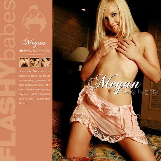 Megan - `Sexy Nighty` - for FLASHYBABES