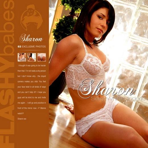 Sharon - `Sexy white Lingerie` - for FLASHYBABES