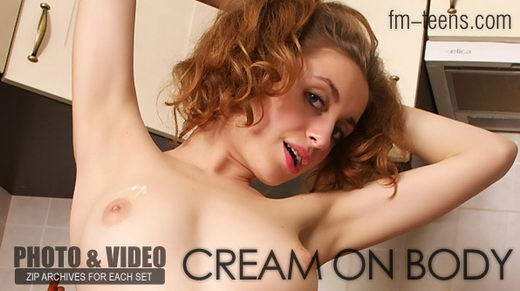 Natasha in Cream On Body gallery from FM-TEENS