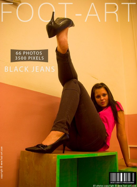 Denise in Black Jeans gallery from FOOT-ART