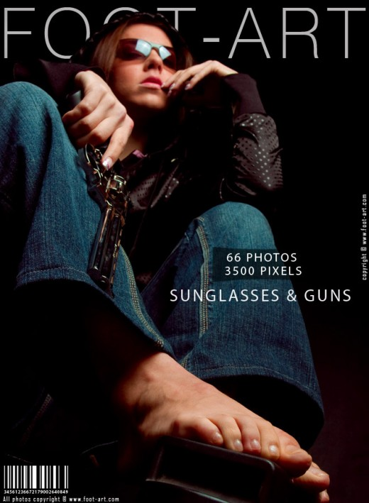 Michelle - `Sunglasses & Guns` - for FOOT-ART