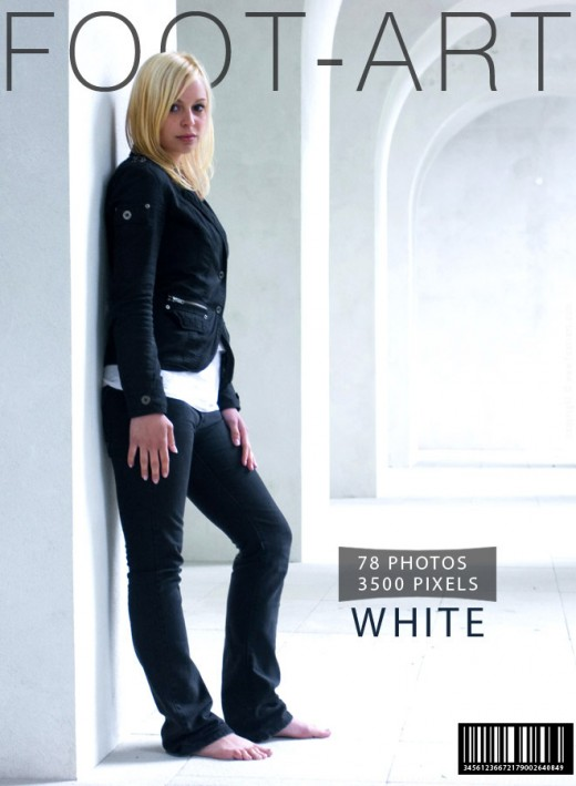 Livia - `White` - for FOOT-ART