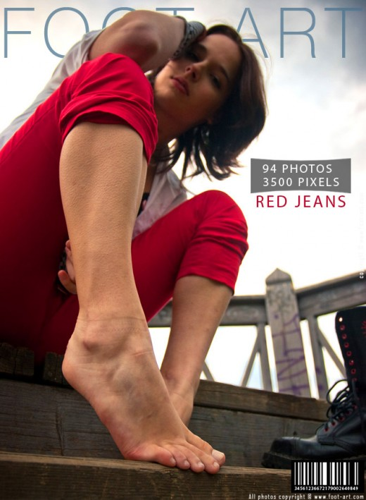 Clara - `Red Jeans` - for FOOT-ART