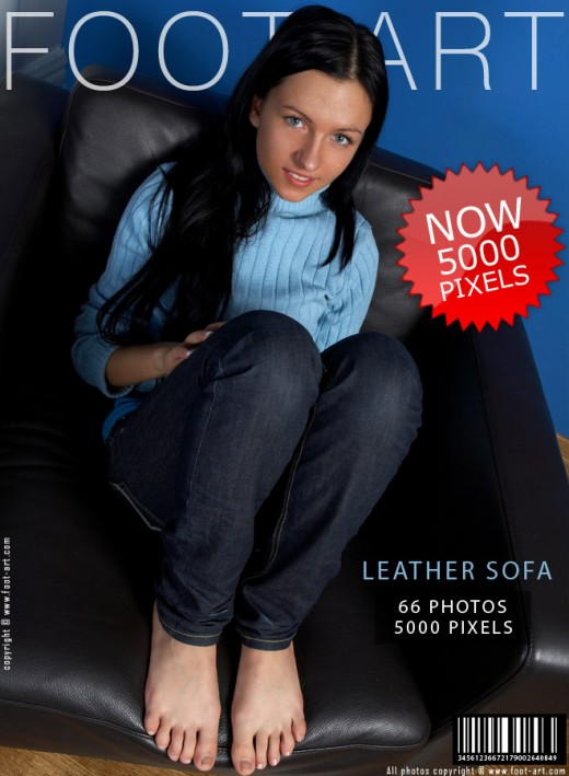 Julia - `Leather Sofa` - for FOOT-ART