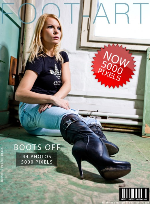 Gina - `Boots Off` - for FOOT-ART