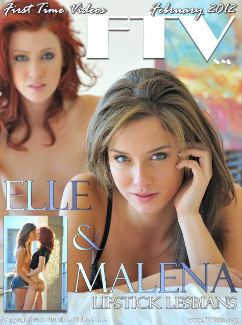 Elle & Malena - `Lipstick Lesbans` - for FTVGIRLS