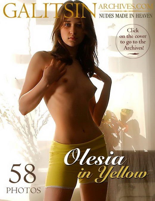 Olesia - `Olesia in Yellow` - by Galitsin for GALITSIN-ARCHIVES