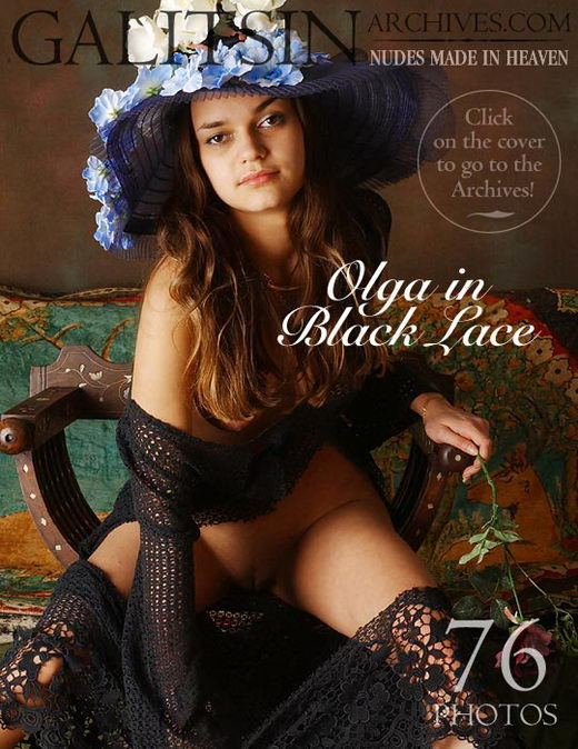 Olga - `Olga in Black Lace` - by Galitsin for GALITSIN-ARCHIVES