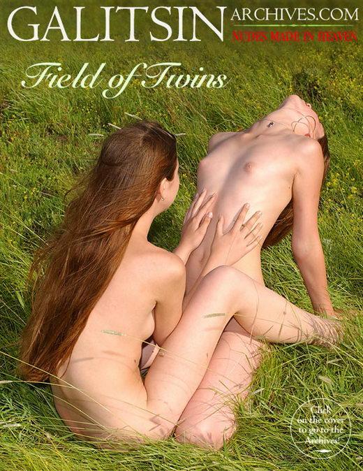 Lina & Maya - `Field of Twins` - by Galitsin for GALITSIN-ARCHIVES