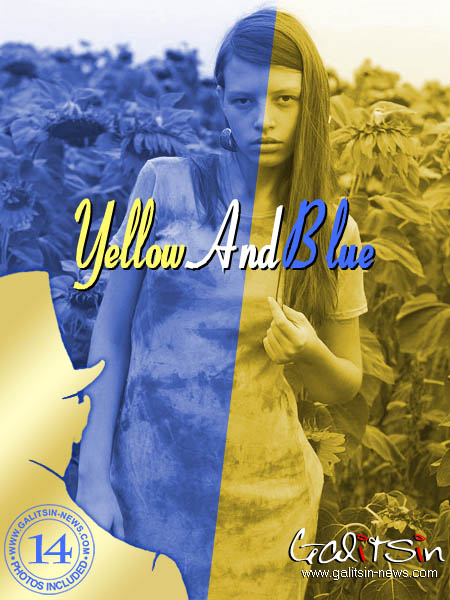 Valentina - `Yellow And Blue` - by Galitsin for GALITSIN-NEWS