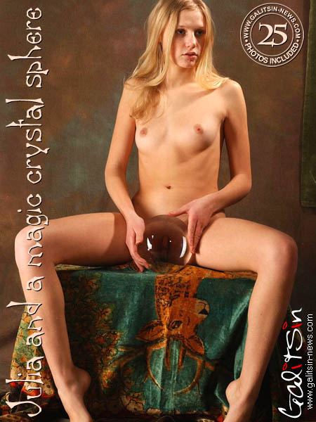 Julia - `Julia And A Magic Crystal Sphere` - by Galitsin for GALITSIN-NEWS
