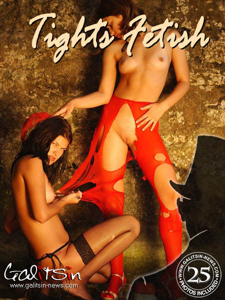 Katerina & Olesia - `Tights Fetish` - by Galitsin for GALITSIN-NEWS