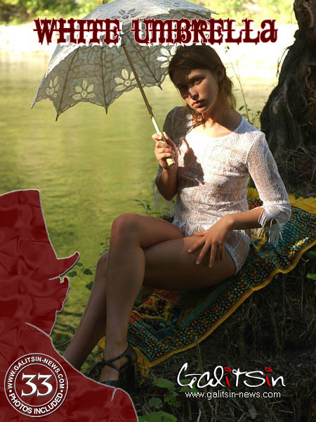 Olesia - `White Umbrella` - by Galitsin for GALITSIN-NEWS