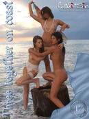Katerina & Olesia & Valentina in Three Together On Coast gallery from GALITSIN-NEWS by Galitsin