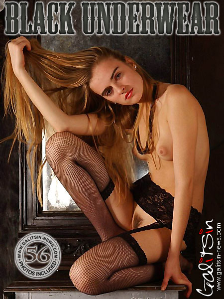 Heline - `Black Underwear` - by Galitsin for GALITSIN-NEWS