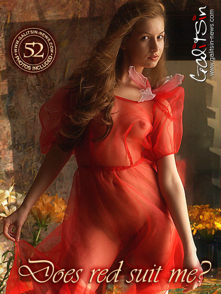 Nusia - `Does Red Suit Me?` - by Galitsin for GALITSIN-NEWS