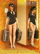 Belka in Attentive Stewardess gallery from GALITSIN-NEWS by Galitsin