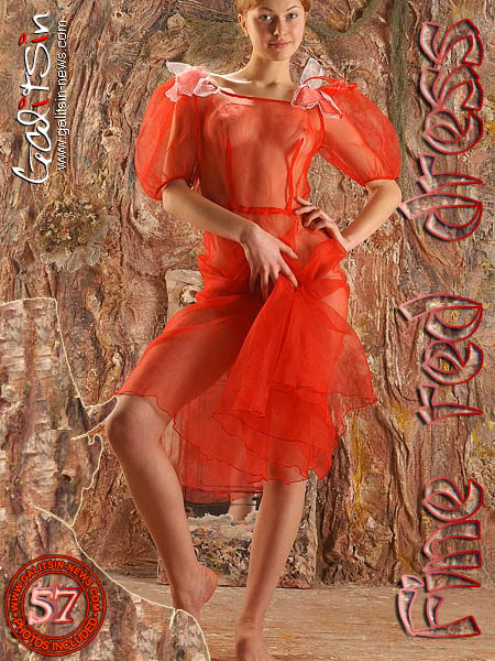 Anais - `Fine Red Dress` - by Galitsin for GALITSIN-NEWS