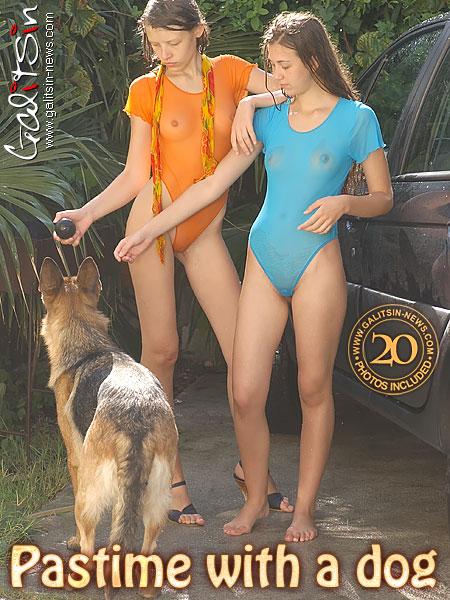 Lina & Valentina - `Pastime With A Dog` - by Galitsin for GALITSIN-NEWS