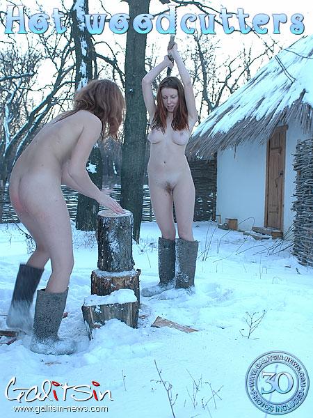 Aksinya & Masha - `Hot Woodcutters` - by Galitsin for GALITSIN-NEWS