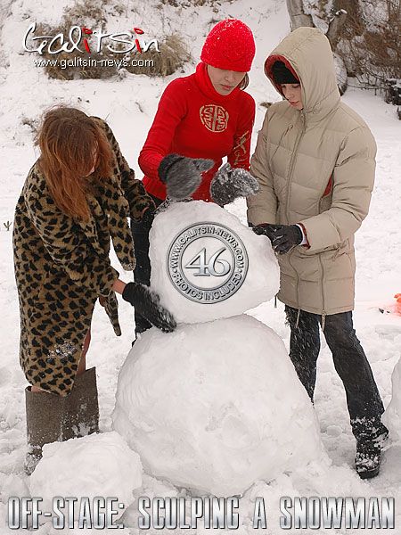 Katia & Masha & Valentina - `Off-Stage: Sculping A Snowman` - by Galitsin for GALITSIN-NEWS