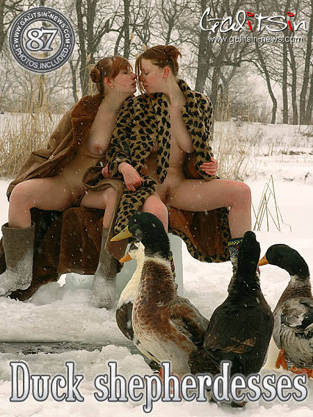 Aksinya & Masha - `Duck Shepherdesses` - by Galitsin for GALITSIN-NEWS