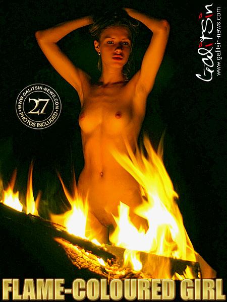 Natali - `Flame-Coloured Girl` - by Galitsin for GALITSIN-NEWS