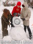 Katia & Masha & Valentina - Off-Stage: Sculping A Snowman
