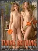 Twins Bathing