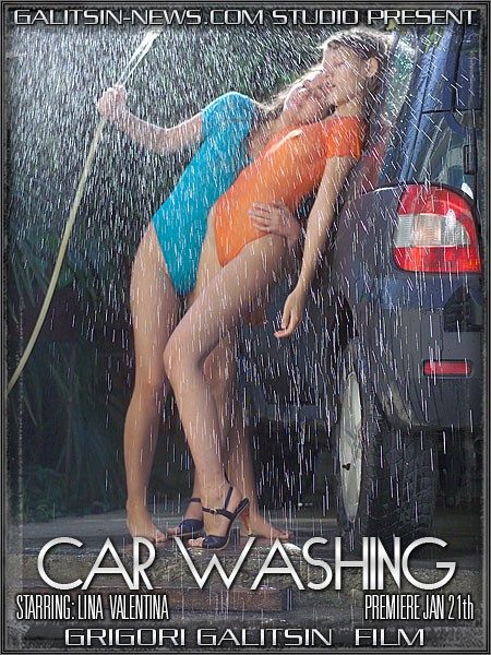 Lina & Valentina - `Car Washing` - by Galitsin for GALITSINVIDEO
