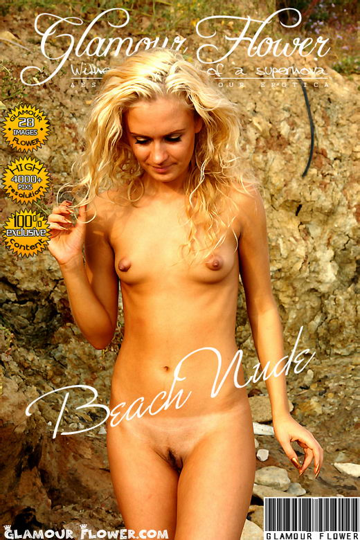 Erika - `Beach Nude` - for GLAMOURFLOWER ARCHIVES