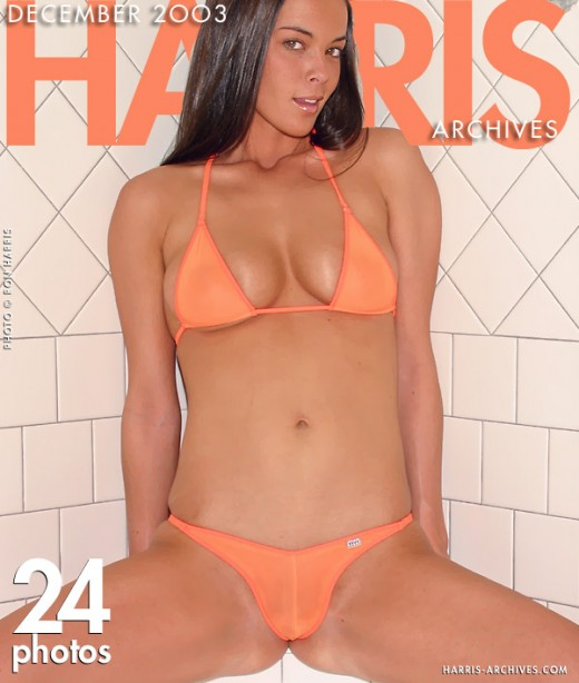 Tylar - `Orange Bikini` - by Ron Harris for HARRIS-ARCHIVES