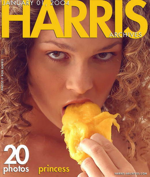Princess - `Eats Mango` - by Ron Harris for HARRIS-ARCHIVES