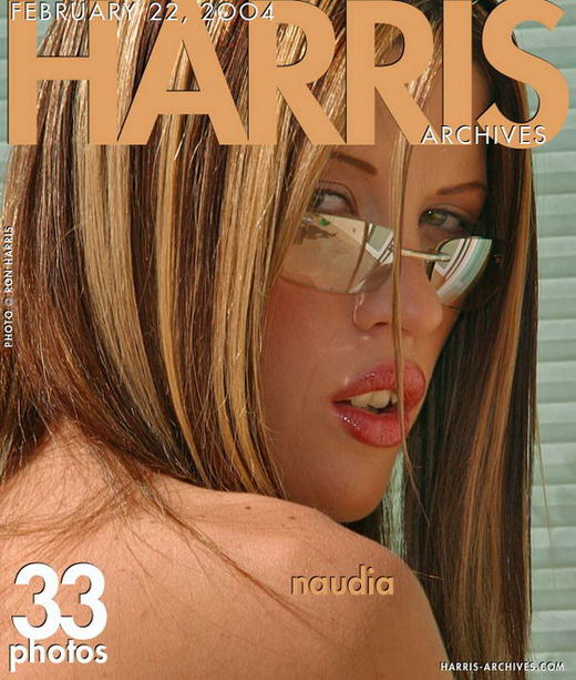 Naudia - `White Bikini` - by Ron Harris for HARRIS-ARCHIVES