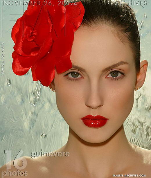 Guinevere - `Red Flower` - by Ron Harris for HARRIS-ARCHIVES