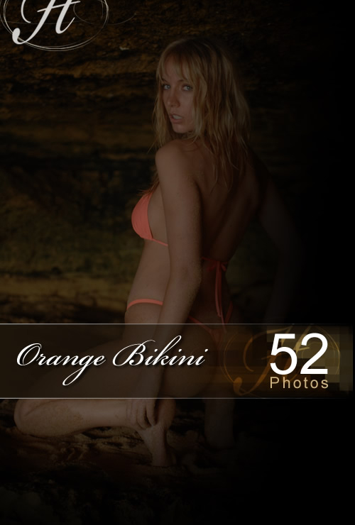 Hayley Marie - `Orange Bikini` - for HAYLEYS SECRETS