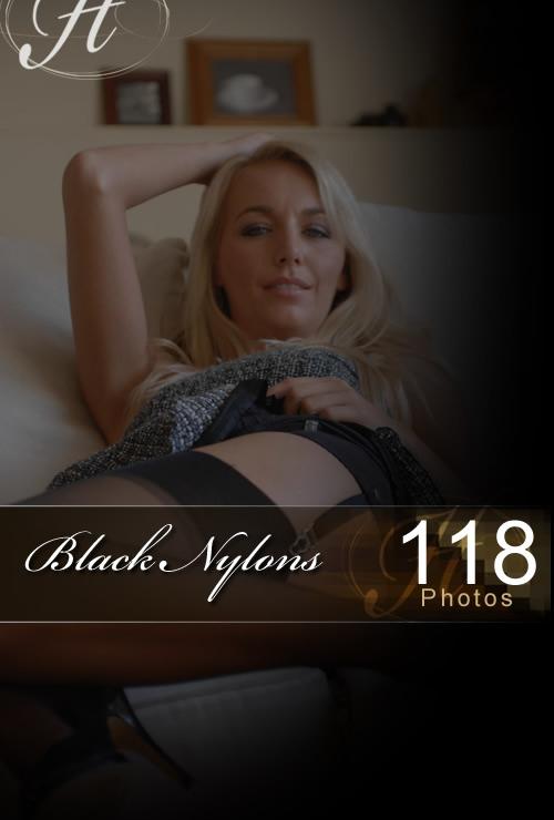 Hayley Marie - `Black Nylons` - for HAYLEYS SECRETS