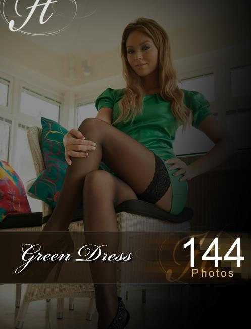 Natalia - `Green Dress` - for HAYLEYS SECRETS