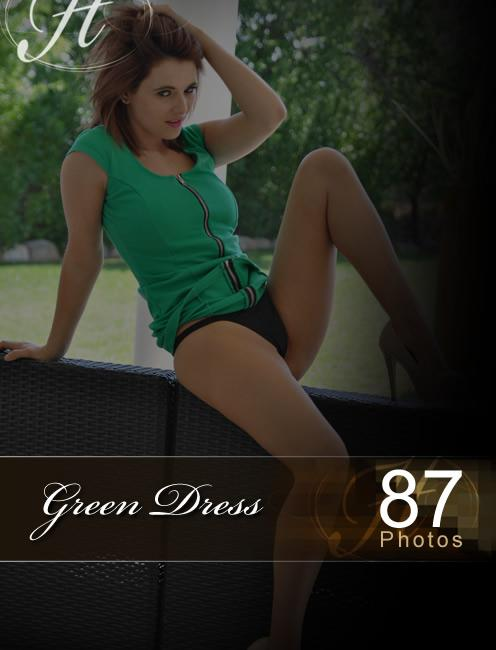 Emma - `Green Dress` - for HAYLEYS SECRETS