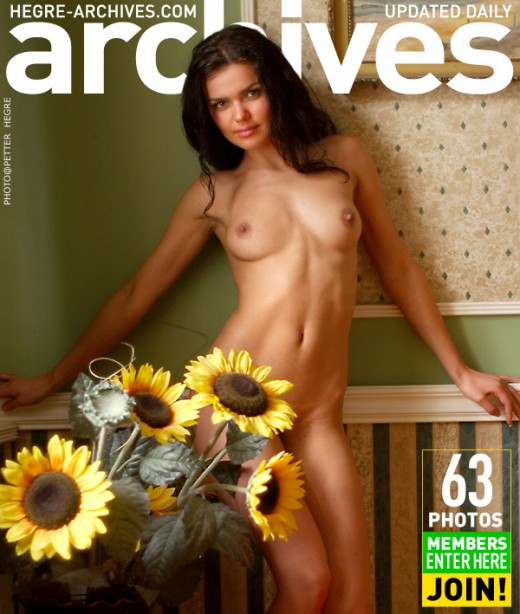 Indre - `With Sunflower - Part 2` - by Petter Hegre for HEGRE-ARCHIVES