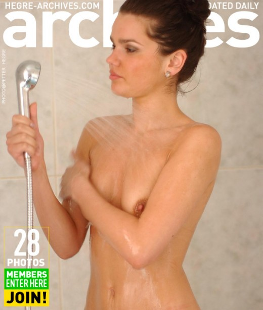 Indre - `In The Shower - Part 2` - by Petter Hegre for HEGRE-ARCHIVES