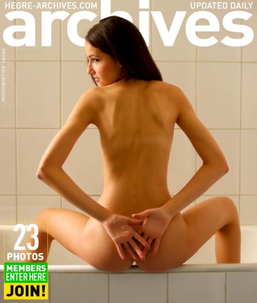 Cataline - `Girl In Bathtub` - by Petter Hegre for HEGRE-ARCHIVES