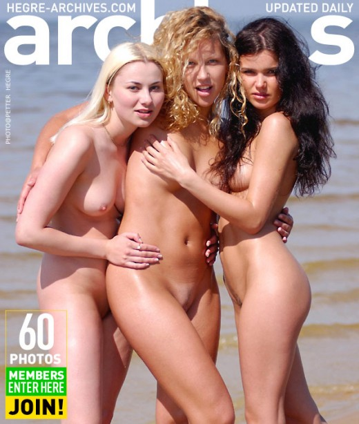 Indre & Ulrika & Bella - `Three Nymphs On The Beach - Part 3` - by Petter Hegre for HEGRE-ARCHIVES