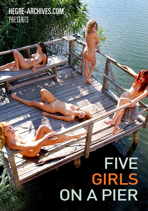 `#28 - Five Girls On A Pier` - by Petter Hegre for HEGRE-ARCHIVES