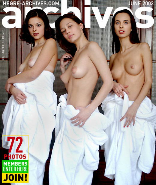 Galina & Sveba & Tana - `Dropping Bathrobes` - by Petter Hegre for HEGRE-ARCHIVES