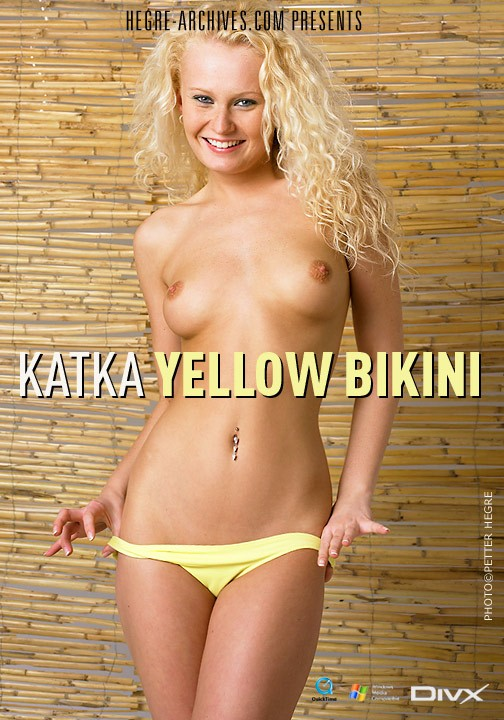 Katka - `#148 - Yellow Bikini` - by Petter Hegre for HEGRE-ARCHIVES