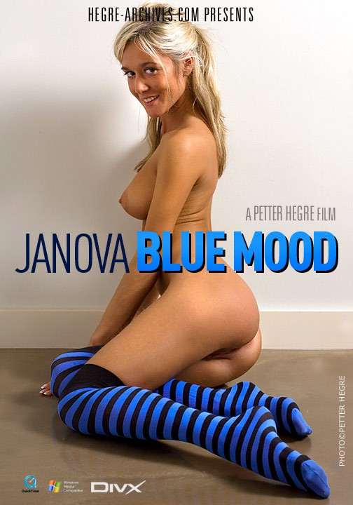 Janova - `#150 - Blue Mood` - by Petter Hegre for HEGRE-ARCHIVES