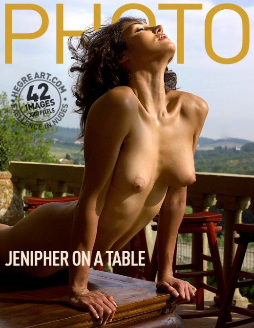 Jenipher - `On A Table` - by Petter Hegre for HEGRE-ARCHIVES