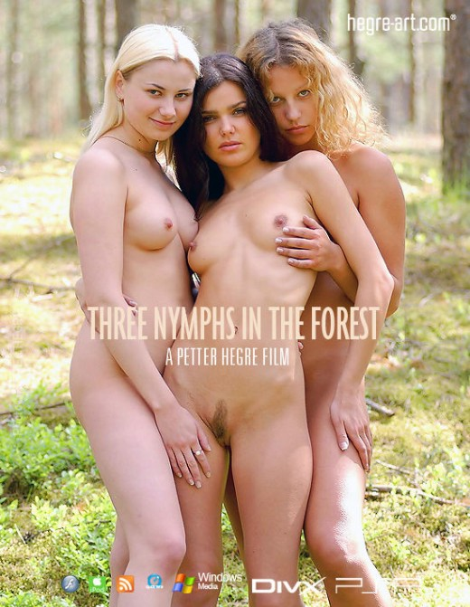 Indre & Ulrika - `#3 - Three Nymphs In The Forest` - by Petter Hegre for HEGRE-ART VIDEO