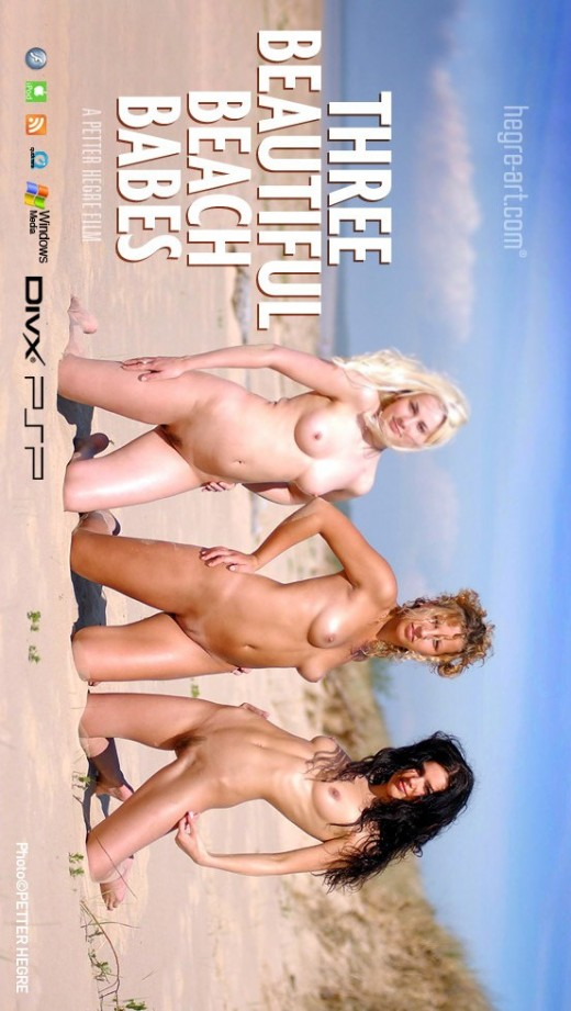 Indre & Ulrika - `#7 - Three Beautiful Beach Babes` - by Petter Hegre for HEGRE-ART VIDEO